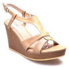 ราคา Ease รองเท้าส้นเตารีด รุ่น Nf100 04 Tan Ease