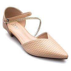 ขาย ซื้อ Ease รองเท้าส้นเตี้ย รุ่น Nf35 120 Tan ใน Thailand