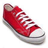 ทบทวน ที่สุด Ease รองเท้าผ้าใบ Sneaker Lady Shoes รุ่น 101 1 Red