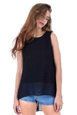 โปรโมชั่น Ease Women เสื้อแขนกุด Blouse Sleeveless รุ่น Bls001 Black ถูก
