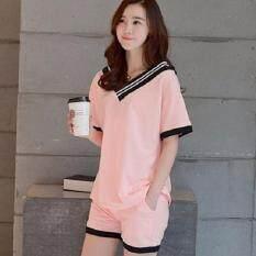 ซื้อ Easy เสื้อผ้าแฟชั่น ชุดเซต เสื้อกางเกงขาสั้น สีโอรส รุ่น 5017 ถูก กรุงเทพมหานคร