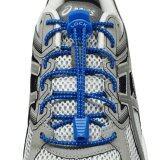 ส่วนลด เชือกรองเท้า เชือกผูกรองเท้า ไม่ต้องผูก รองเท้า Lock Laces No Tie Elastic Shoe Laces Lock And Clip For Custom Fit Blue Thailand
