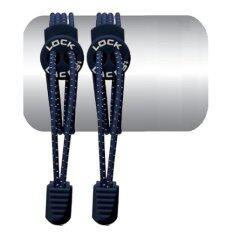 ราคา เชือกรองเท้า เชือกผูกรองเท้า ไม่ต้องผูก รองเท้า Lock Laces No Tie Elastic Shoe Laces Lock And Clip For Custom Fit Deep Blue ราคาถูกที่สุด