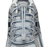 เชือกรองเท้า เชือกผูกรองเท้า ไม่ต้องผูก รองเท้า Lock Laces No Tie Elastic Shoe Laces Lock And Clip For Custom Fit Gray เป็นต้นฉบับ