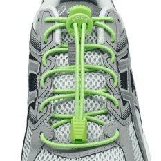 โปรโมชั่น เชือกรองเท้า เชือกผูกรองเท้า ไม่ต้องผูก รองเท้า Lock Laces No Tie Elastic Shoe Laces Lock And Clip For Custom Fit Green ถูก