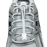 ซื้อ เชือกรองเท้า เชือกผูกรองเท้า ไม่ต้องผูก รองเท้า Lock Laces No Tie Elastic Shoe Laces Lock And Clip For Custom Fit White ออนไลน์ ถูก