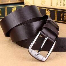 ขาย เข็มขัดผู้ชาย เข็มขัด ผู้ชาย เข็มขัดหนัง Belt Men S Jeans Casual Waistband Dress Pu Leather Belt Pin Metal Buckle Strap Brown ถูก