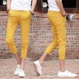 ซื้อ ยืดหยุ่นชายพักผ่อนเกาหลี ตรงบางเก้ากางเกงกางเกง บาง บุรุษ เยาวชนกด กางเกงบุรุษ นานาชาติ ใหม่ล่าสุด