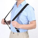 Elastic Suspender 3 5Cm Width Men X Shape Braces Adjustable 4 Clips Belts Clip On Braces Black Intl ใหม่ล่าสุด