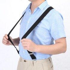 ส่วนลด Elastic Suspender 3 5Cm Width Men X Shape Braces Adjustable 4 Clips Belts Clip On Braces Black Intl Unbranded Generic ใน จีน