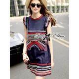 ขาย ซื้อ Elisa Thailand เสื้อผ้าแฟชั่นสไตล์เกาหลี Lady Kim Tribal Embroidered Cotton Dress Thailand