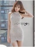 ขาย Elisa Thailand เสื้อผ้าแฟชั่นสไตล์เกาหลี Lady Ribbon S Made Lady Isabella S*xy Feminine Sleeveless N*d* Lace Dress ออนไลน์ Thailand
