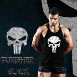 ราคา Elit Gym เสื้อกล้าม เข้ารูป เสื้อฟิตเนส ออกกำลังกาย Punisher Black Tank Top Gym Fitness สีดำ Elit ใหม่