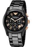 ราคา Emporio Armani นาฬิกาข้อมือผู้ชาย สีดำ สายเซรามิก รุ่น Ar1410 ราคาถูกที่สุด