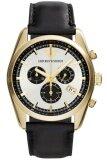 ราคา Emporio Armani นาฬิกาข้อมือผู้ชาย สีดำ สายหนัง รุ่น Ar6006 ใน ไทย