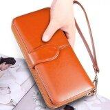 ขาย ซื้อ Emu กระเป๋าสตางค์หนัง พร้อมสายคล้องมือ สีน้ำตาลส้ม กรุงเทพมหานคร