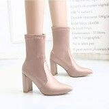 ราคา Eozy Winter Women Fashion High Heel Pointed Boots Beige Intl Eozy เป็นต้นฉบับ