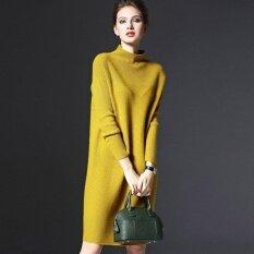 ขาย Era หลวมเสื้อกันหนาวเสื้อคอเต่าสีทึบผู้หญิงแขนยาวลำลองชุดถัก Empireera ออนไลน์