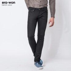 ราคา Era Won กางเกงยีนส์ทรงเดฟ รุ่น Denim Color สี Black Cat ราคาถูกที่สุด