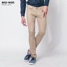 ซื้อ Era Won กางเกงยีนส์ทรงเดฟ รุ่น Denim Color สี Khaki ใน ปทุมธานี