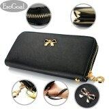 ราคา Esogoal แฟชั่นผู้หญิงผู้หญิงคลัทช์กระเป๋าสตางค์หนังกระเป๋าถือกระเป๋าถือ สีแดง Fashion Women Leather Wallet เป็นต้นฉบับ Esogoal