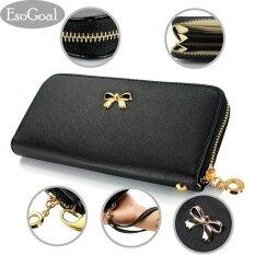 ทบทวน ที่สุด Esogoal แฟชั่นผู้หญิงผู้หญิงคลัทช์กระเป๋าสตางค์หนังกระเป๋าถือกระเป๋าถือ สีแดง Fashion Women Leather Wallet