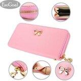 ขาย Esogoal แฟชั่นผู้หญิงผู้หญิงคลัทช์กระเป๋าสตางค์หนังกระเป๋าถือกระเป๋าถือ สีแดง Fashion Women Leather Wallet Esogoal ออนไลน์