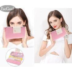 ทบทวน ที่สุด Esogoal กระเป๋าสตางค์แบบ Multi Card กระเป๋าสตางค์แบบคล้องกระเป๋าซิปกระเป๋าซิปกระเป๋าถือ Women Swallet