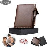 ราคา Esogoal Business Men Wallets Solid Man Pu Leather Purse Long Bifold Wallet Portable Cash Coin Purses Zipper Wallets For Valentine S Day Present Box Intl ใหม่