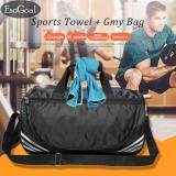Esogoal Gym Bag And Cooling Towel Duffle Bag Including Shoes Compartment Cooling Chilly Towel For Sports Fitness Gym Yoga Pilates Travel Camping More เป็นต้นฉบับ