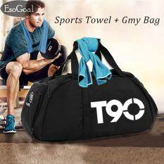 ซื้อ Esogoal Gym Bag And Cooling Towel Duffle Bag Including Shoes Compartment Cooling Chilly Towel For Sports Fitness Gym Yoga Pilates Travel Camping More ใหม่