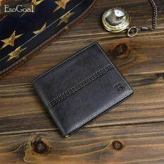 ราคา Esogoal ธุรกิจผู้ชายกระเป๋าสตางค์ธุรกิจผู้ชายกระเป๋าสตางค์ของแข็งหนังเทียมหนังกระเป๋าสตางค์ยาว Bifold กระเป๋าสตางค์แบบพกพาเหรียญกระเป๋าคลัทช์ชาย เป็นต้นฉบับ Esogoal