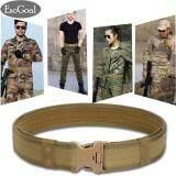 ขาย Esogoal เข็มขัดผู้ชาย เข็มขัด ผู้ชาย เข็มขัดหนัง Military Equipment With Side Release Buckle Black ถูก ใน จีน