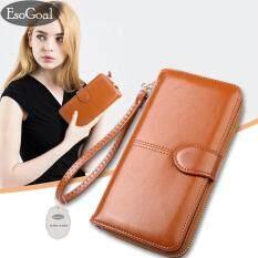 ราคา Esogoal กระเป๋าสตางค์ใบยาวกระเป๋าเงินผู้หญิงกระเป๋าสตางค์ผู้หญิงรุ่นแฟชั่นกระเป๋าสตางค์หนังผู้หญิง เป็นต้นฉบับ
