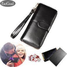 EsoGoal ผู้หญิงความจุมากกระเป๋าถือหนังกระเป๋าสตางค์แบบบาง Bifold ...