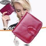 ซื้อ Esogoal มินิหนัง Bifold กระเป๋าสตางค์คลัทช์หน้าต่าง Id การ์ดเหรียญ Fashion Women Leather Wallet ใหม่ล่าสุด