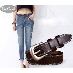 ราคา Esogoal กระเป๋าถือหนังเอวเข็มขัดสุภาพสตรีเข็มขัดโลหะผสมแปรงสำหรับกางเกงยีนส์กางเกงขาสั้นกางเกง Pu Leather Belt เป็นต้นฉบับ
