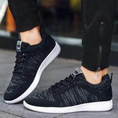 Esther รองเท้าผ้าใบผู้ชาย รองเท้าผ้าใบสีดำ รุ่น CM1788 สีดำ