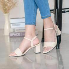 ขาย ซื้อ Esther รองเท้าแฟชั่นผู้หญิง รุ่น M2223 Cream สีครีม ใน กรุงเทพมหานคร