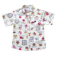 เสื้อเชิ้ตเด็ก เสื้อเด็ก อายุ 6เดือน 4ขวบ คอจีน เป็นต้นฉบับ