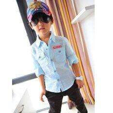 เสื้อเด็กชายCi Si ไซส์ 100-140 แขนยาว ( สีฟ้า)