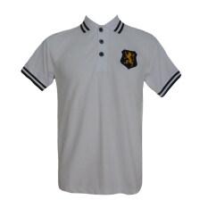 ราคา เสื้อโปโลสีขาว ปักหน้าอก สิงห์ ปักเลข8 แขนขวา สีขาว ออนไลน์