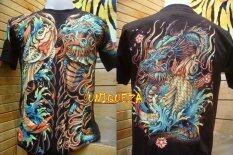 ขาย เสื้อยืดลายญี่ปุ่น มังกร ปลาคาร์พ เรืองแสงในที่มืด Glow In The Dark T Shirt Unbranded Generic