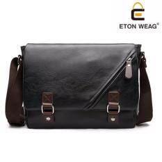 ขาย Etonweag กระเป๋าสะพายข้าง Messenger Bag สไตล์เกาหลี สีดำ Black ใน กรุงเทพมหานคร
