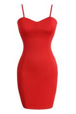 ราคา Etop ผู้หญิงสปาเก็ตตี้เซ็กซี่สายคล้องคอสะโพก Bodycon ชุดลำลองมินิ S Xl สีแดง ใหม่