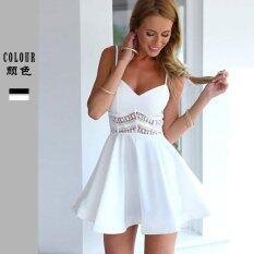 โปรโมชั่น Europe And The United States Through The Sale Of Ebay Dress S*xy Waist Lace Lace Up A Large Swing Skirt Intl จีน