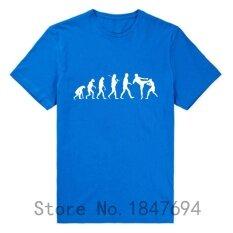 ราคา Evolution เสื้อยืดรบมวยไทยสู้ไม่ยอมใครง่ายๆเสื้อกล้ามตลกฝ้ายเสื้อ Tees 001 สีฟ้า นานาชาติ Custom T Shirt จีน
