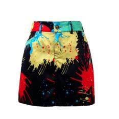 Exceed Lady Golf Skirt Black Colourful กระโปรงกอล์ฟ Qz011 สีดำ ใน กรุงเทพมหานคร
