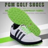 โปรโมชั่น Exceed รองเท้ากอล์ฟ Pgm Golf Men Shoes Xz021 White Black Green Colour Size Eu 39 Eu 44 สีขาวแถบดำพื้นเขียว ถูก