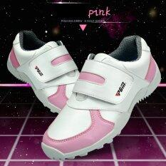 Exceed รองเท้ากอล์ฟ Pgm Kids Golf Shoes Xz054 White-Pink Colour Size Eu: 30 - Eu: 36 สีขาวแถบชมพู By Exceed.